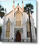 Downtown Charleston Church Metal Print