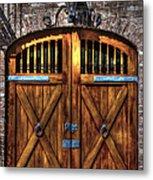 Downtown Charleston Sc Doors Metal Print
