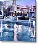 Downtown City Plaza Chico California Metal Print