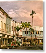 Downtown Hilo Sunday Morning Metal Print