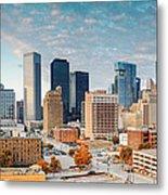 Downtown Houston Panorama Metal Print