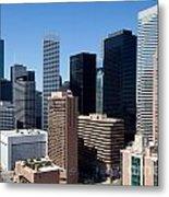 Downtown Houston Texas Metal Print