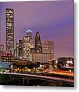 Downtown Houston Texas Skyline Beating Heart Of A Bustling City Metal Print by Silvio Ligutti