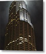 Downtown Los Angeles In The Fog Metal Print
