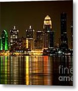 Downtown Louisville Kentucky Skyline Night Shot Metal Print