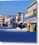 Downtown Mackinac In The Early Morning Metal Print