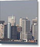 Downtown Manhattan Shot From The Staten Island Ferry Metal Print