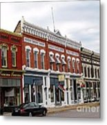 Downtown Manistee Michigan Metal Print
