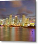 Downtown Miami And Aaa Metal Print