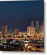 Downtown Miami Skyline At  Metal Print