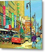 Downtown Montreal Eatons Centre Complex Les Ailes Old Navy Rue Mcgill College City Scenes  C Spandau Metal Print