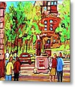 Downtown Montreal Mcgill University Streetscenes Metal Print