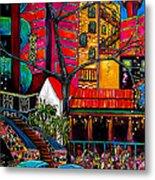 Downtown On The River Metal Print by Patti Schermerhorn