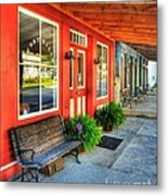 Downtown Perryville Metal Print by Mel Steinhauer