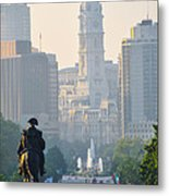 Downtown Philadelphia - Benjamin Franklin Parkway Metal Print
