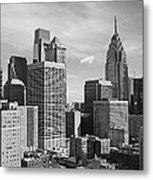 Downtown Philadelphia Metal Print by Rona Black