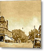 Downtown Port Chester Metal Print