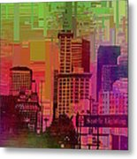 Downtown Seattle Cubed 1 Metal Print