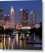 Downtown Skyline Of Columbus Metal Print