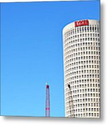 Downtown Tampa Photography - Leaning Tower Of Sykes - Sharon Cummings Metal Print
