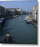 Downtown Venice Metal Print