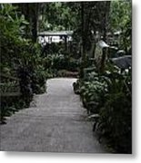 Downward Sloping Part Inside The National Orchid Garden In Singapore Metal Print