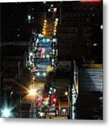 Dowtown Morgantown From Above Metal Print