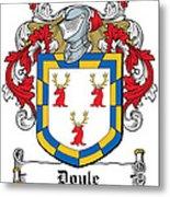 Doyle Coat Of Arms Wicklow Ireland Metal Print