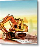 Dozer October Metal Print