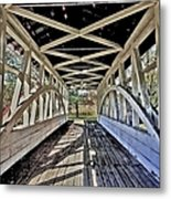 Dr. Knisely Covered Bridge Metal Print
