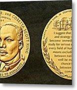 Dr Martin Luther King Jr And Coretta Scott King Bronze Medal Art Metal Print