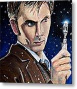 Dr Who #10 - David Tennant Metal Print