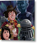 Dr Who 4th Doctor Jelly Baby Metal Print