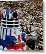 Dr Who - Forest Dalek Metal Print