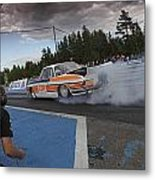 Drag Racing 3 Metal Print
