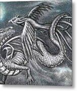Dragon And Phoenix Metal Print