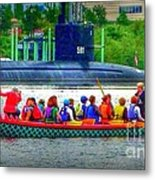 Dragon Boat Challenges Submarine  Metal Print