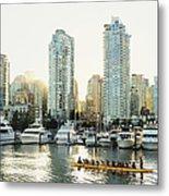 Dragon Boating In Vancouver Metal Print