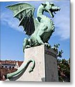 Dragon Bridge. Ljubljana. Metal Print