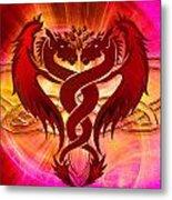Dragon Duel Series 15 Metal Print