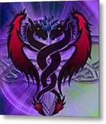 Dragon Duel Series 19 Metal Print