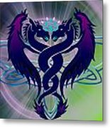 Dragon Duel Series 2 Metal Print