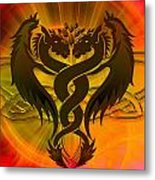 Dragon Duel Series 3 Metal Print