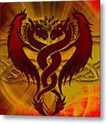 Dragon Duel Series 5 Metal Print