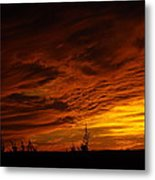 Dragon Faces In The Clouds Metal Print
