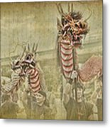 Dragon Festival Metal Print by Karen Walzer