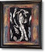 Dragon Lion Repousse And Chasing By Alfredo Garcia Art - Original Mixed Media Modern Abstract Painti Metal Print