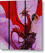 Dragon Power-featured In Comfortable Art Group Metal Print