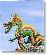 Dragon Sculpture Metal Print