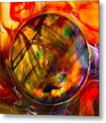 Dragon Travel Sphere Metal Print